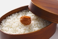 弁当箱と白米