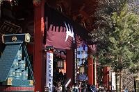 東京都 浅草寺 正月風景