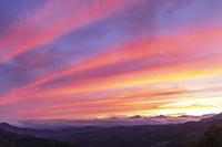 長野県 北アルプスの夕焼け