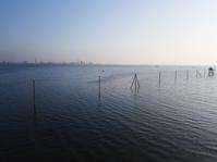 千葉県 久津間海岸 海中電柱 ドローン