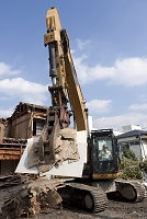 家屋の解体工事現場