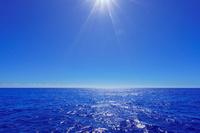 東京都 小笠原村 青い海と空