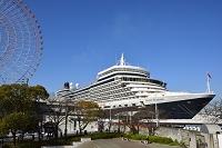 大阪 大阪湾 天保山に豪華客船クリーンエリザべスが停泊