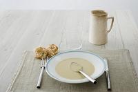 西洋ネギとココナッツのスープ