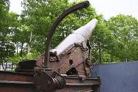 ロシア サハリン 郷土博物館の大砲