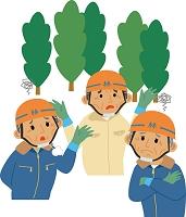 高齢化に悩む林業従事者