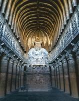 インド アジャンタ石窟群 第26窟 礼拝窟