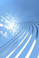 曲線と光イメージ CG