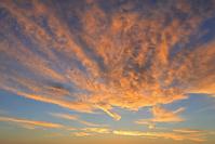 岐阜県 双六小屋からの朝焼け雲