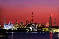 神奈川県 千鳥運河と工業地帯夜景