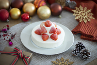 クリスマスケーキと小物