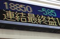 株価の電光掲示板