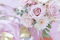 ピンクとハートのバレンタインアレンジメント