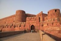 背景 インド アーグラ城塞