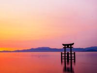 滋賀県 琵琶湖の朝