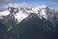 長野県 蝶ケ岳から槍ヶ岳、大喰岳、中岳、南岳