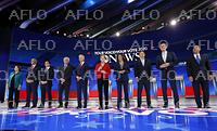 米大統領選 民主党候補が第3回TV討論会 条件満たした10人が参加