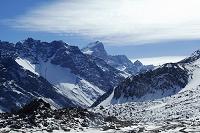 アルゼンチン 雪の積もったアンデス山脈