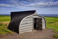 イギリス ホーリー島 ボート小屋