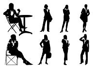 ビジネス女性(シルエット)
