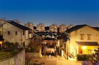 新興住宅街夜景
