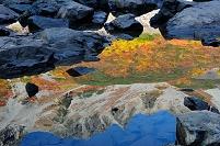 長野県 松本市 穂高岳・涸沢 水面に映る涸沢カールの紅葉