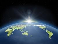 世界と日の出
