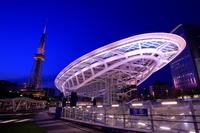愛知県 オアシス21と名古屋テレビ塔の夜景