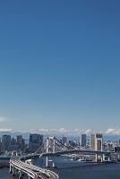 東京都 江東区 レインボーブリッジと品川方面のビル群