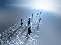 デジタル数字の道を行く