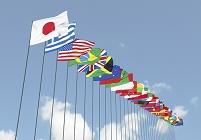 青空と万国旗