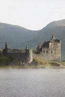 イギリス スコットランド キルカーン城とオー湖