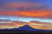 鳥取県 大山朝焼け 伯耆富士