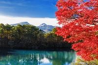 福島県 五色沼(毘沙門沼)と磐梯山