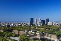 大阪府 大阪城とOBPの高層ビル群