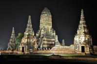タイ王国 アユタヤ遺跡ライトアップ