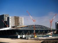 東京都 有明体操競技場の建設現場
