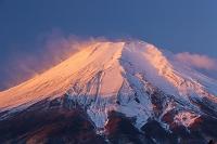 山梨県 朝焼けの富士山