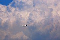 入道雲 飛行機