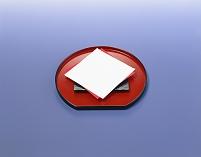 半月盆に紅白の和紙