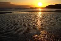 波紋美しい新舞子海岸