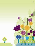 イラスト  花壇のイメージ