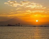 神奈川県 森戸海岸 夕景