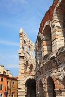 イタリア ヴェローナ市街 ブラ広場のアレーナ 円形競技場跡