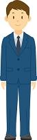 スーツを着た男性新入社員の全身