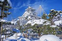 滋賀県 雪の長浜城