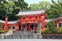 八坂神社 楼門と幟