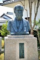 岡山県 津山洋学資料館 箕作秋坪の胸像