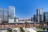 東京都 新丸ビルから見た東京駅丸の内駅舎