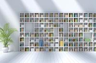 本棚のある部屋